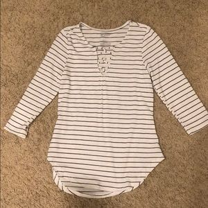 Striped, 3/4 sleeve blouse